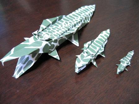 動物折り紙(ワニ)