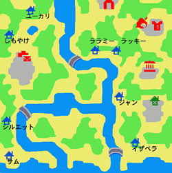 pommeむらの地図