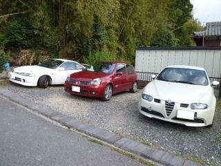 20110508カフェ駐車場