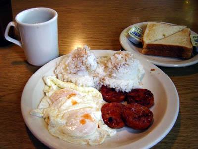 ハワイの朝食