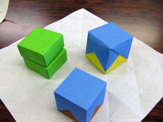 バラ 折り紙:折り紙 立方体-origamikyouiku.blog96.fc2.com