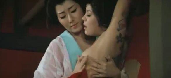 片山由美子 映画「徳川いれずみ師 責め地獄」で藤本三重子にレズ調教される濡れ場