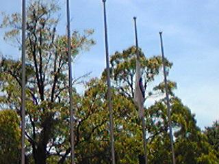 20110515中原街道時代祭り 半旗
