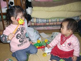 ハハ誕生日2007(ゆなちゃんと)