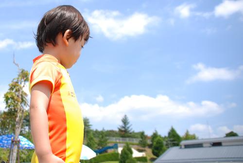 丹波自然運動公園のプールで遊ぶ
