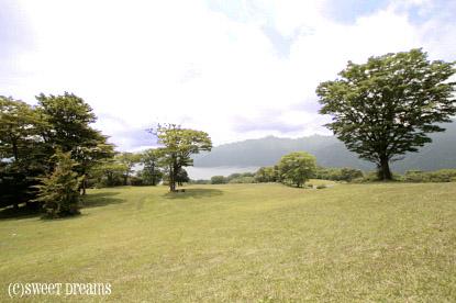 芦ノ湖一望。