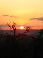 奈良ホテルから見た夕日
