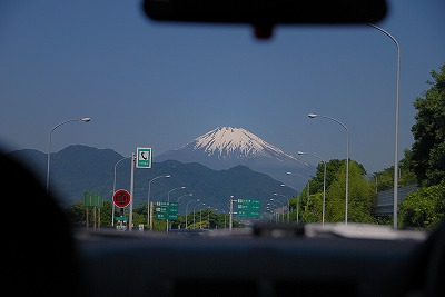 車から見る富士