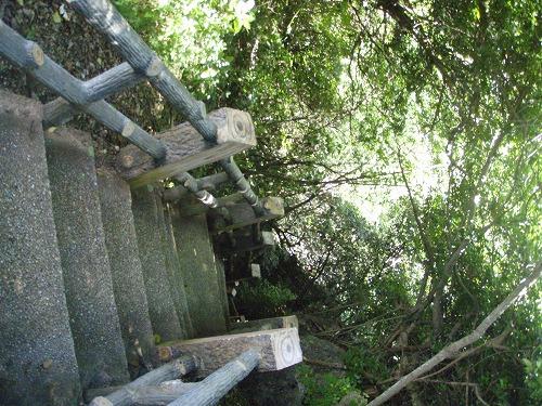 グロットへの階段