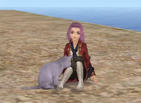 猫と戯れw
