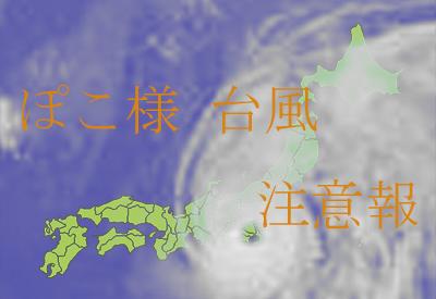 ぽこ様台風