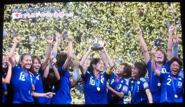 女子W杯サッカー優勝