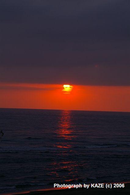 遠州灘の夕陽