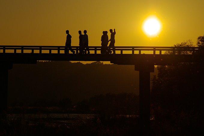 蓬莱橋夕景