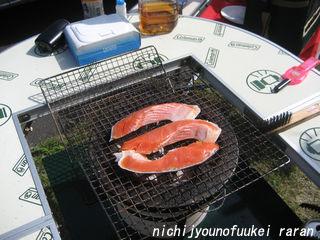 朝ごはんは鮭