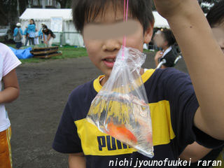 りょうたんは金魚すくい