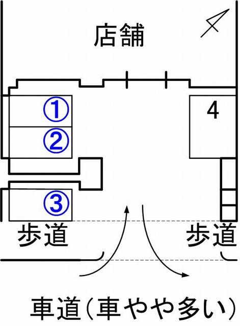 Jota takahashicoffee駐車場見取り図