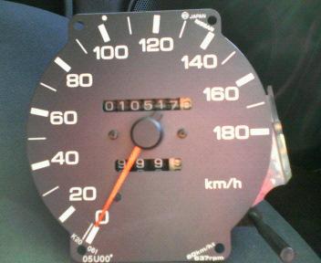 元のスピードメーター