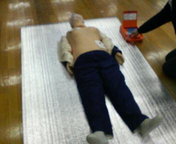 救命講習の状況(AEDの講習)