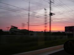 夕焼けの50号線