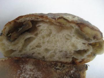 ブルーチーズとくるみのパン切り口