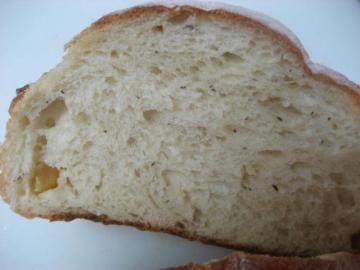 紅茶とりんごのパン切り口