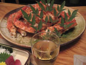 蟹とワイン