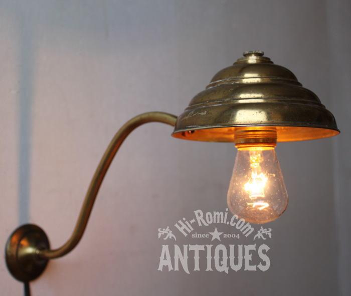 USA LEVITONソケット工業系壁掛真鍮製ランプ/アンティークライト