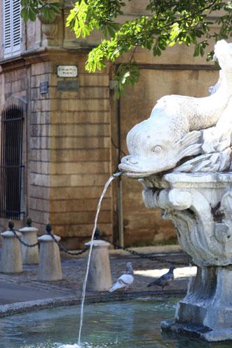 Aix-en-Provenceの噴水