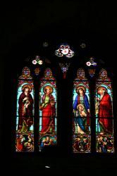 教会のステンドグラス(ムスティエ・サント・マリー)