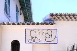 ロザリオ礼拝堂にあるマティスの壁画(ヴァンス)
