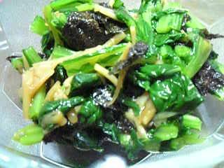 小松菜和え物
