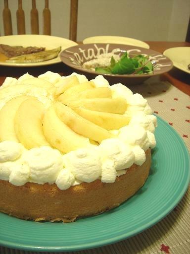 白桃アーモンドケーキ