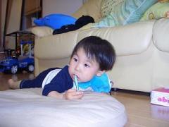 2歳1ヶ月の歯磨き