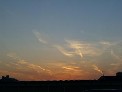 今日の夕焼けはきれいだった☆