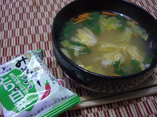 鶏と白菜のお味噌汁