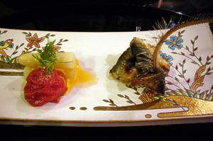 鮎の焼き寿司、シュガートマト