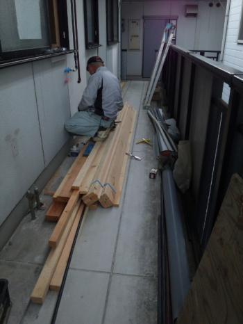 給排水の工事中