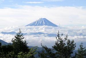 天女山より富士山