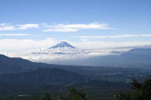 天の河原より富士山