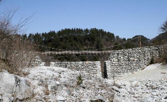 吊橋上流より撮影