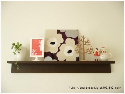 無印の壁に付ける家具の上ディスプレイ