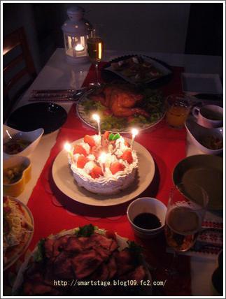 クリスマス料理(キャンドル)
