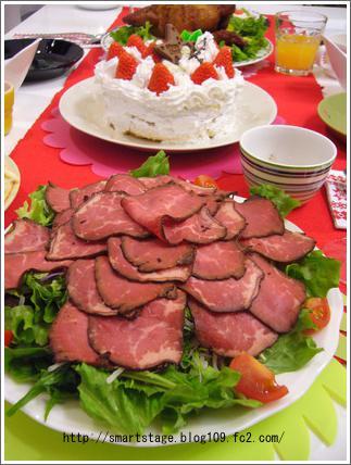 クリスマス料理(ローストビーフ)