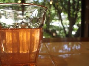 桃のシロップ