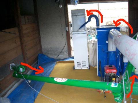 籾摺り機械一式