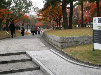 文化会館の前庭 2007-11-29 13-03-59