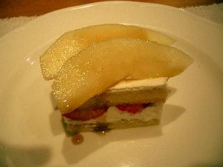 洋ナシとイチゴのケーキ!