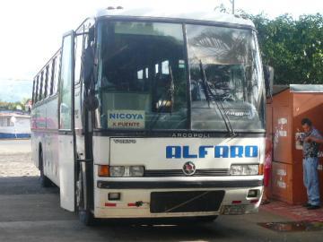 Nicoya行バス