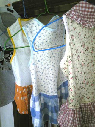 洗濯物(ラクスのお洋服)